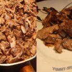 грибы-с-мясом-и-сметаной
