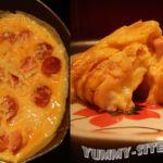 омлет с сосисками и сыром