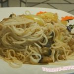 рисовая лапша с баклажанами