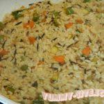 рис с кабачком