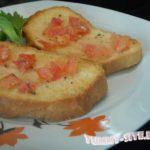 Хлеб с помидором по-испански