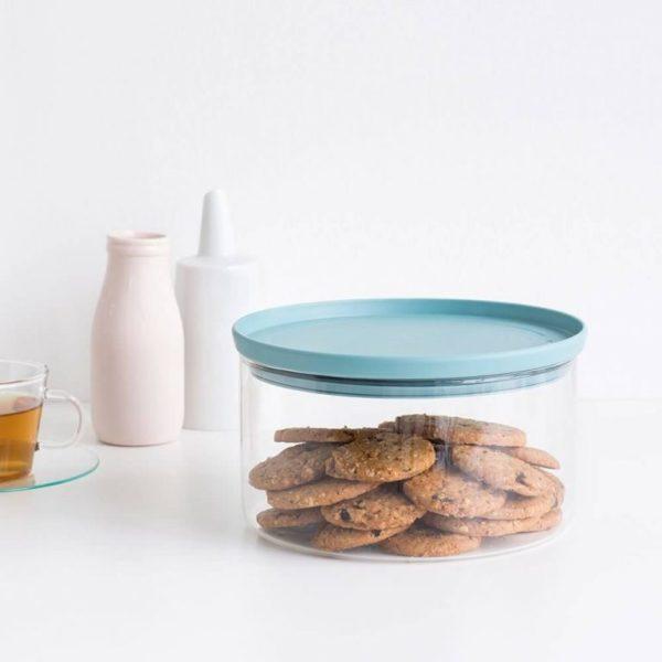 Стеклянный контейнер для печенья