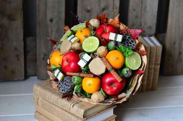 Подарки из фруктов